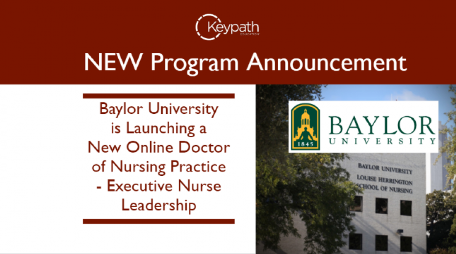 Baylor University program announcement