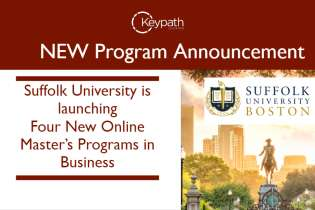Suffolk University Launches Four New Online Master's Degree Programs in Business (281)